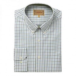 Schoffel Banbury  Blue  and Olive Check Shirt