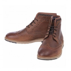 barbour cowan brogue tan boots