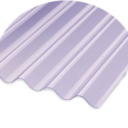 Heavy Clear Corrugated Pvc Sheet 8/3 Profile 8ft