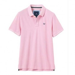 Crew Clothing Classic Pique Pink Polo Shirt