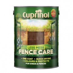 Cuprinol Les Mess Fence Care fence panel paint