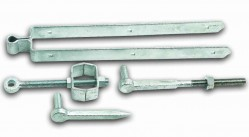 Adjustable hinge set field gate fixing