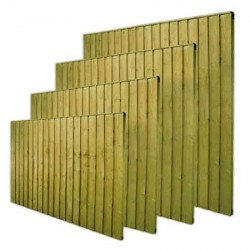 Close boarded Garden Fence Panel Green  6ft x 6ft