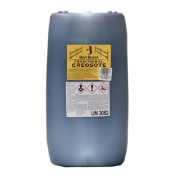 Creosote Traditional Jet Black Bird Brand 25 Litres