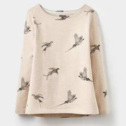 Joules-Harbour-Print-Oat-Marl-Birds-Jersey-Top