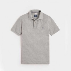 Joules Mens Woody Classic Grey Marl Polo Shirt