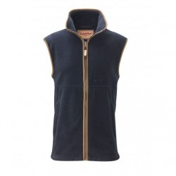 schoffel navy oakham fleece gilet