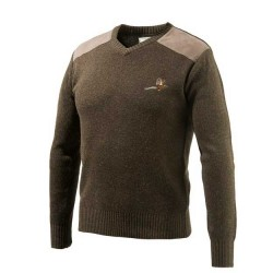 Beretta Pheasant V Neck Sweater Dark Green