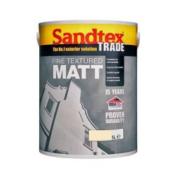 Sandtex Fine Textured Matt Cornish Cream 5 Litre main
