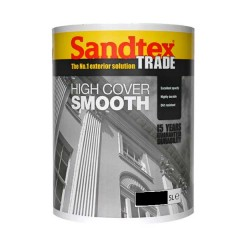 Sandtex High Cover Smooth Black 5 Litre main