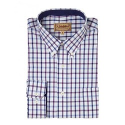 Schoffel Brancaster Purple Check Shirt