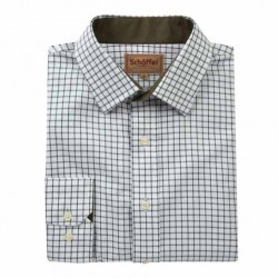 Schoffel Dark Olive Mens Check Shirt