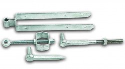 Adjustable hinge set field gate fixing 12""