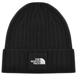 The North Face Black Classic Cuffed Beanie Hat Front