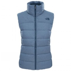 The North Face | Clothing - Vests - Ladies Ink Blue Heather Nuptse Gilet