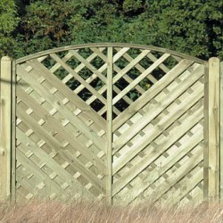 Arched Continental Garden Fence Panel