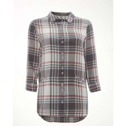 White Stuff Wanderer Almond Cream Print Check Shirt | White Stuff Tops