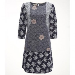 White Stuff Midnight Blue Print Savannah Tunic Dress