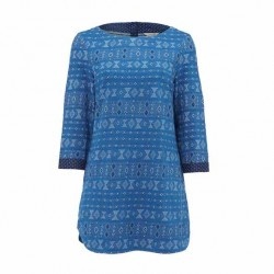 White Stuff Jacquard Jersey Tunic Denim