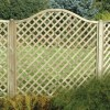 Omega lattice fence Panel