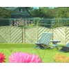 Lattice Top Arched Garden Fence Panel VA120