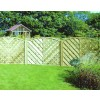 Lattice Top Arched Garden Fence Panel VA150 Madrid