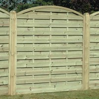 Arched Horizontal Garden Fence Panel AH180 1800mm x 1800mm