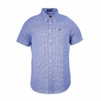 Barbour Clifton Short Sleeved Navy Shirt