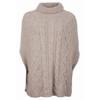 Barbour Ladies Oatmeal Court Knitted Cape