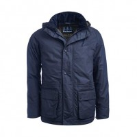 Barbour Woodfold Waterproof Navy Jacket