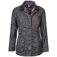 Barbour Ladies Olive Classic Beadnell Wax Jacket