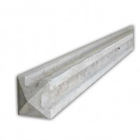 8 ft Concrete Slotted Corner Fence Post
