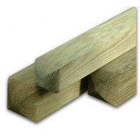 2.4M X 100MM X 100MM Planed & Ribbed Posts