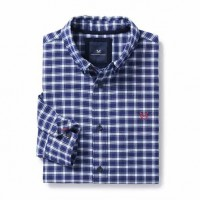 Crew Clothing Bridford Classic Navy Check Shirt