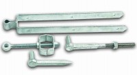 "Galvanised 24"" Adjustable Field Gate Hinge Set"