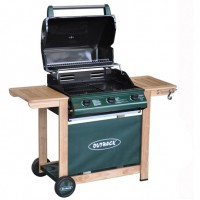 Hunter Select Green Outback Gas Barbecue 3 Burner