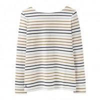Joules Harbour Cream Multi Stripe Jersey Top
