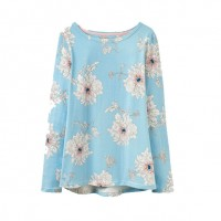 Joules Harbour Jersey Top Duck Egg Peony