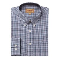 Schoffel Holkham Plum Check Long-Sleeved Shirt