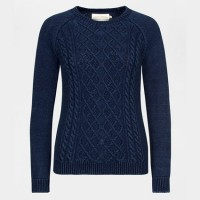 Seasalt Cable Knit Indigo Dye Offshore Jumper