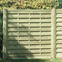 Square Horizontal Garden Fence Panel SH180 1800MM X 1800MM