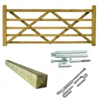 Driveway Entrance Timber Gate Package 12ft