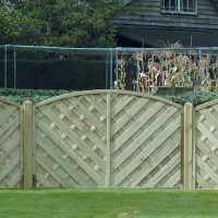 'V' ARCHED MADRID FENCE PANEL VA120 1200MM X 1800MM