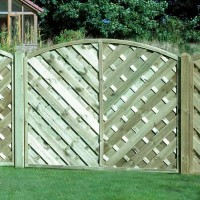Arched V Style Continental Garden Fence Panel 1500mm x 1800mm