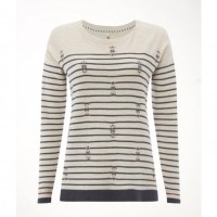 White Stuff River Canyon Almond Stripe Jumper