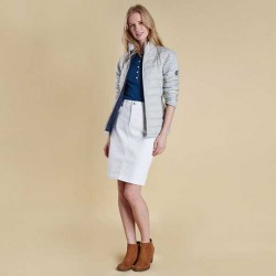 Barbour Essential Denim Skirt white