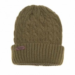 Barbour Balfron Knit Beanie Olive Hat