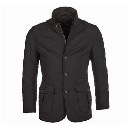 Barbour Quilted Lutz Black Jacket