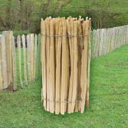 Cleft Chestnut Fencing Roll Paled Fencing 4ft  3 Line Wires