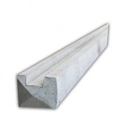 8ft Slotted Concrete End Fence Post